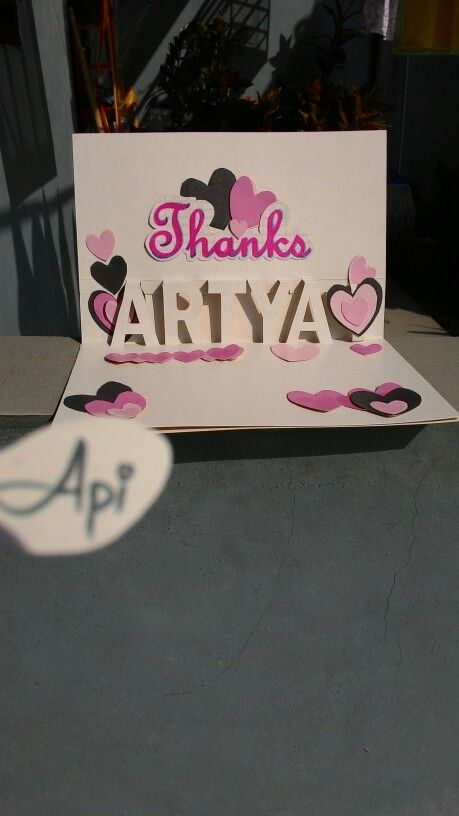 Pop up Thanks ARTYA