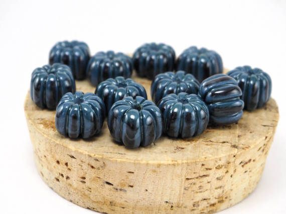 Square pumpkin beads by ArtKareliaBeads #beads #ceramic #necklace #ceramicbeads #etsyshop #etsy #handmade