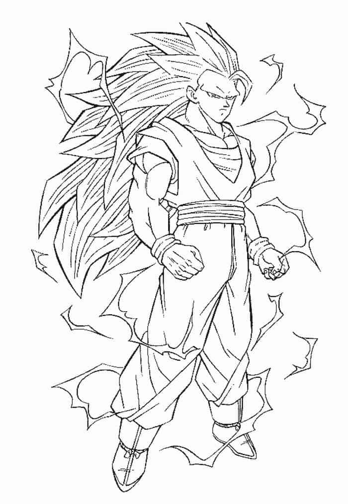 Coloring Pages Of Goku Super Saiyan Forms Dragon Ball Art Cartoon Coloring Pages Dragon Ball Z