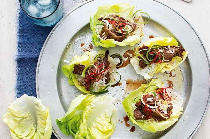 Korean beef lettuce cups
