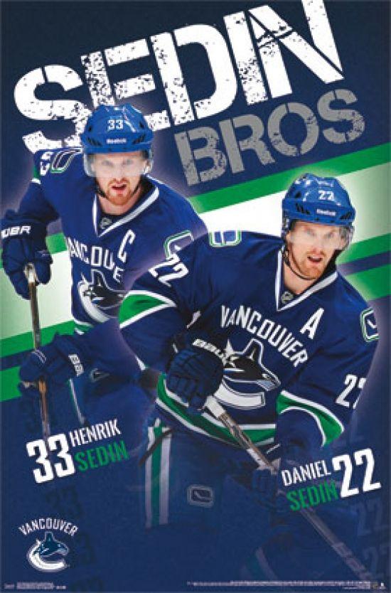 Vancouver Canucks® - Sedin Brothers 13 Poster Print (22 x 34) - Item # TIARP13144 - Posterazzi