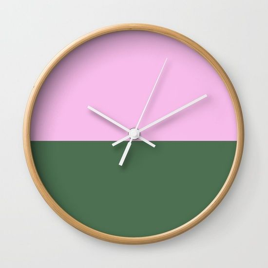 Sweet and Green Wall Clock by Bravely Optimistic | Society6