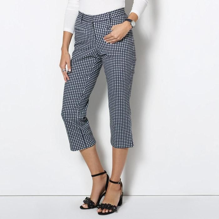 Anna Gingham Capri Pants - Quality Fashion by AVON  The cropped, casual cut makes these porch-perfect pants a springtime staple.  reg. $34.99