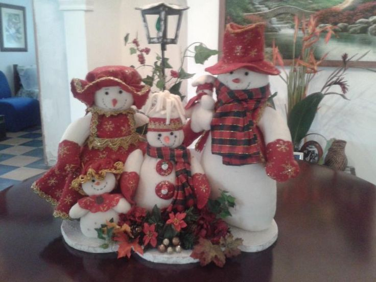 snow family familia de nieve para navidad