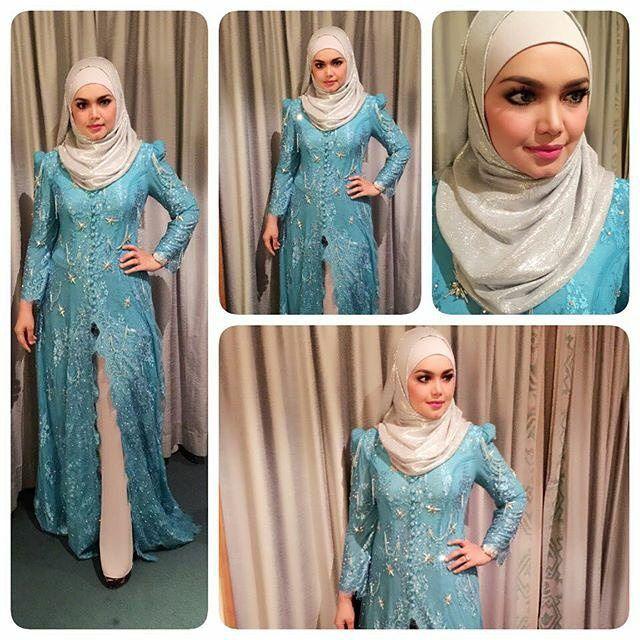 Dato Siti Nurhaliza @ctdk bersedia utk persembahan di Padang Merdeka Kuching Sarawak malam ini.