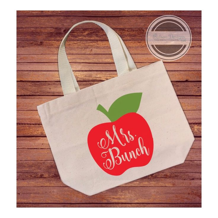 Personalized Teacher's Name Canvas Tote Bag