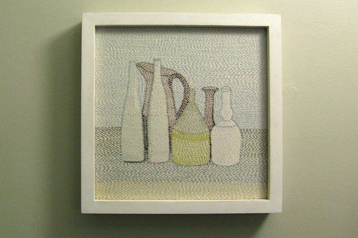 Louise Jennings (threaded drawing after Morandi)