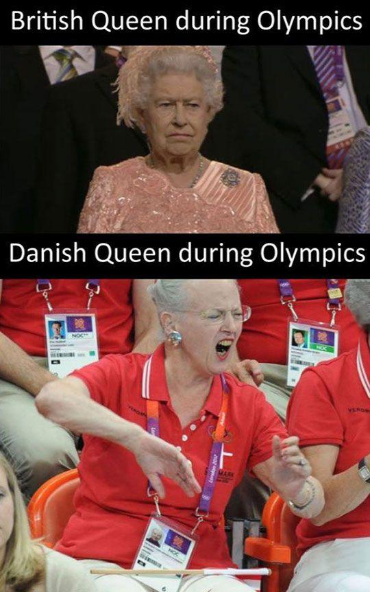 Queen Margerethe II Is The Best. Queen of England is, at best, grumpy cat.