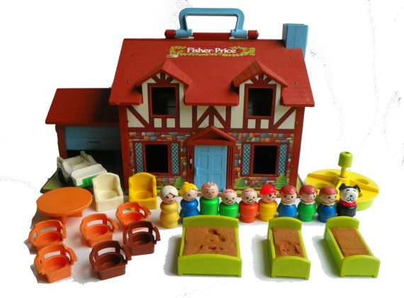 I had this Little People house. I think there was a rocking horse with it too.