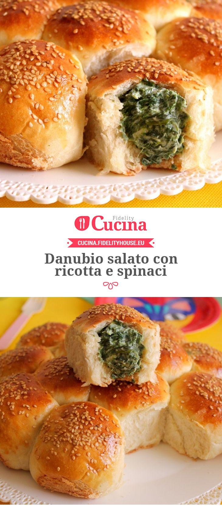 Danubio salato con ricotta e spinaci