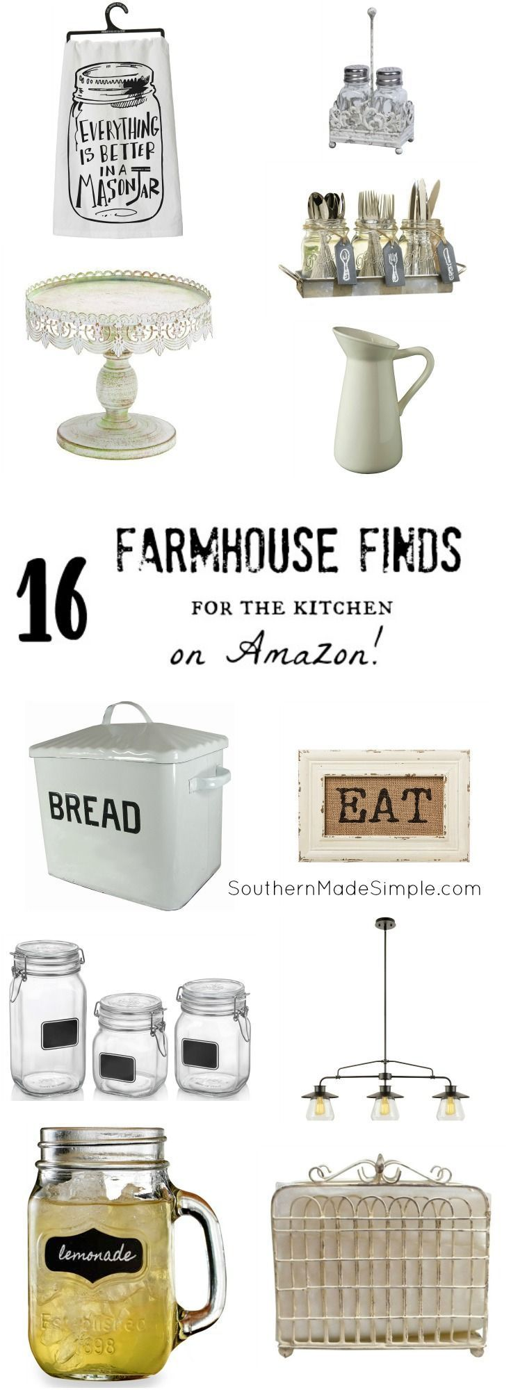 Fixer upper navy kitchen - Farmhouse Finds For The Kitchen On Amazon