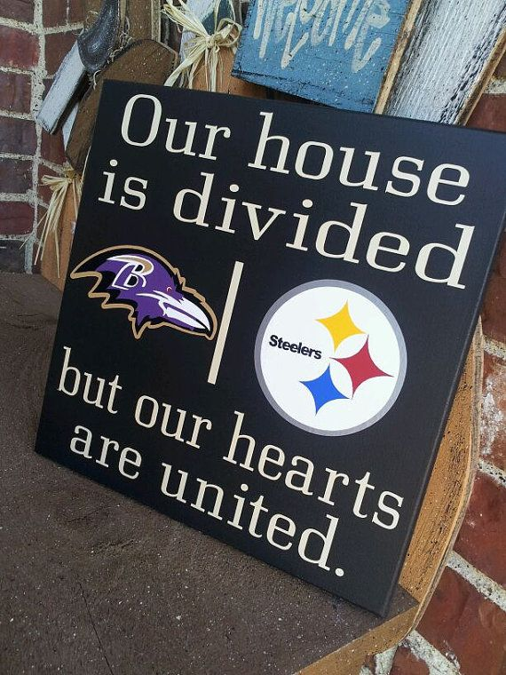 Personalized NFL House Divided Sign on Etsy, $40.00