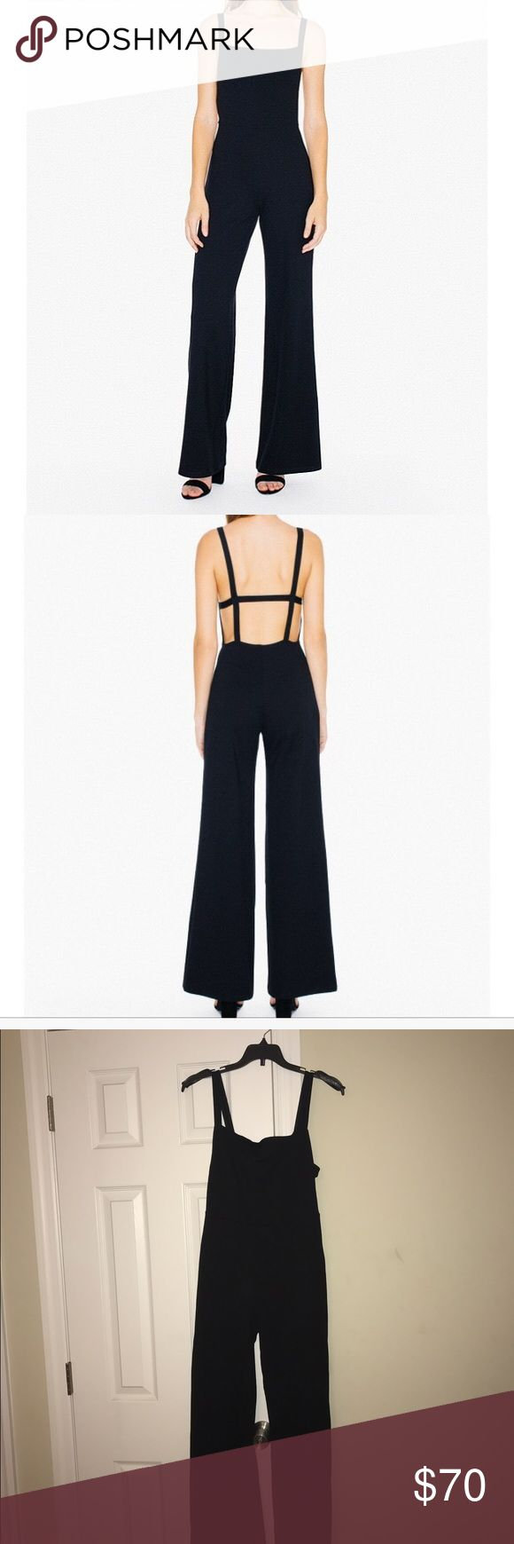 Jumpsuit Open back wide leg jumpsuit. Brand new. Extremely beautiful. American Apparel Pants Jumpsuits & Rompers