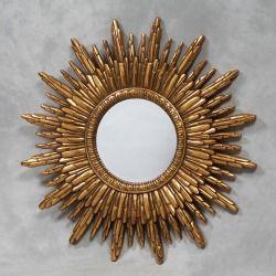 Antique gold sunburst mirror - M100 SALE Was £99.00