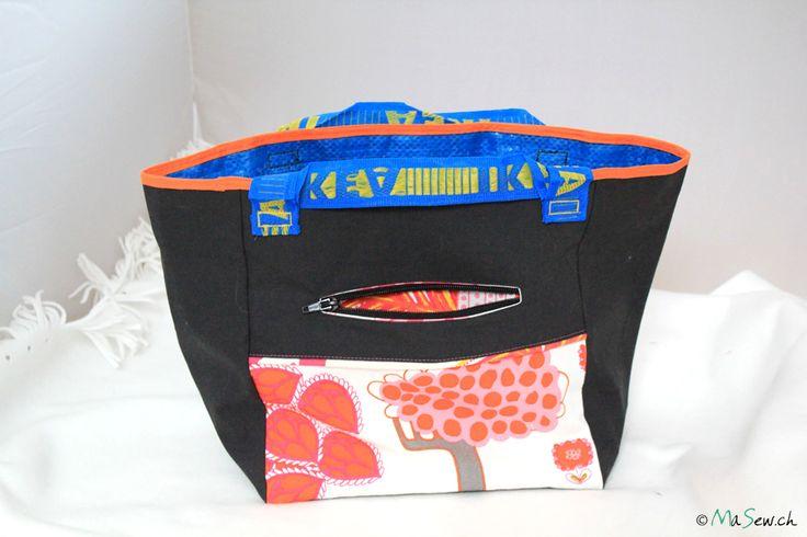 """Freebook zur Tasche """"TAT"""" (Tasche aus Tasche) Eine BRATTBY Tasche 27x27 cm von IKEA wird benötigt."""