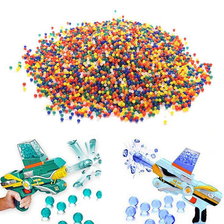 10000Pcs/Lot Rainbow Crystal Water Paintball Gun Bullet Balls Darts Pistol Toys Home Aquarium Potted Decoration Tiny Balls