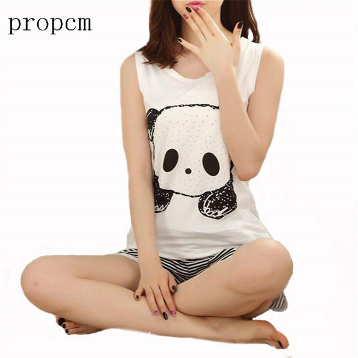 Women Pyjamas Set Shirt Autumn Clothing Panda Famaily Tracksuit Sleeveless Tops Shorts Female Pyjamas Sets Night Suit Sleepwear