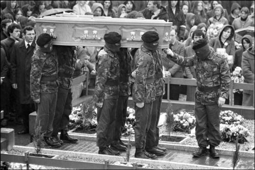 The funeral of hunger striker Bobby Sands, Belfast, May 1981 by Ian Berry.