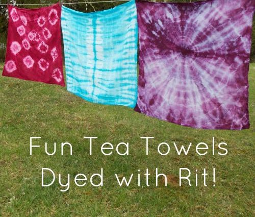 More Shibori tie dyeing fun. White tea towels? Boring!! I tell ya, nothing is safe around here. If something at my house is a solid color, it's only a matter of…