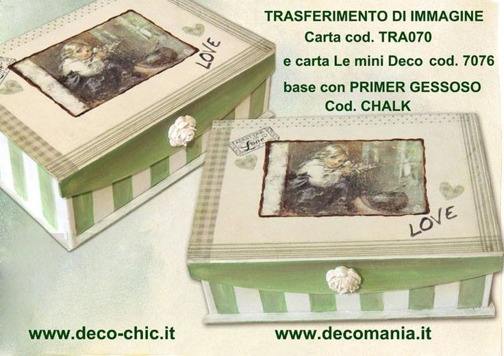 Trasferimento d'immagine by Decomania sito web: www.decomania.it store online: www.deco-chic.it