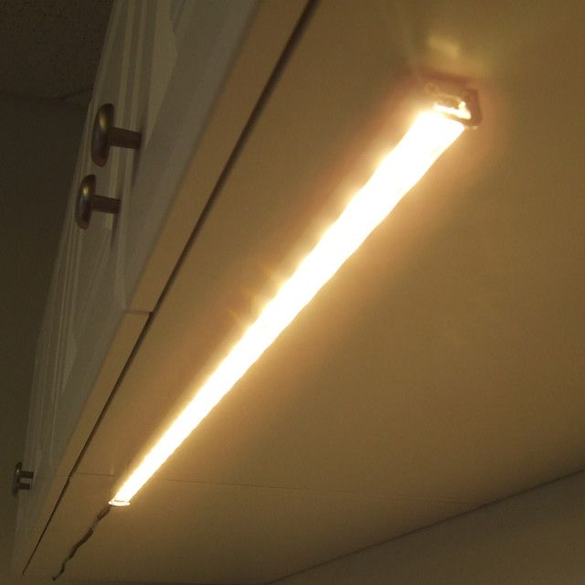 LED Under Cabinet Lighting Traditional Kitchen