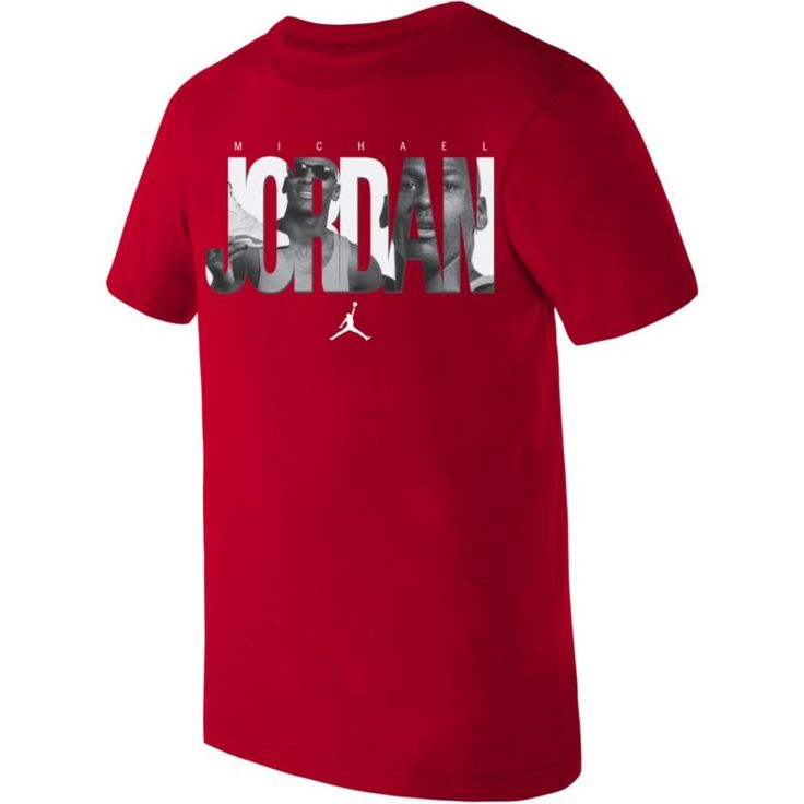 Jordan Boys' Dri-FIT Branded T-Shirt, Size: Medium, Gym Red