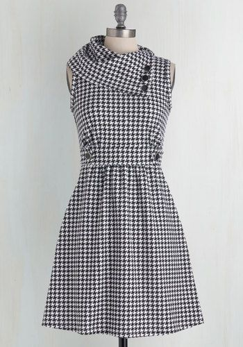 Coach Tour Dress in Houndstooth. Sometimes a dress is so magical, it makes you long for somewhere special and new to wear it.  #modcloth