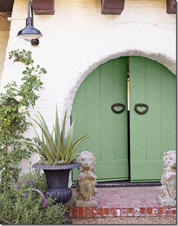 door color folly green by farrow  Ball