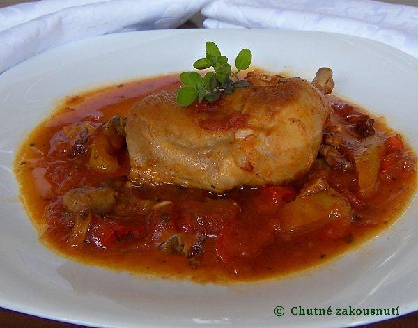 Pollo con pepperoni - (kuře s feferonkami.)....... http://alenkyfood.blog.cz/0804/zazvonil-postak