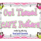 These owl posters were created to be hung in the classroom as a  to implement the CAFE strategies.