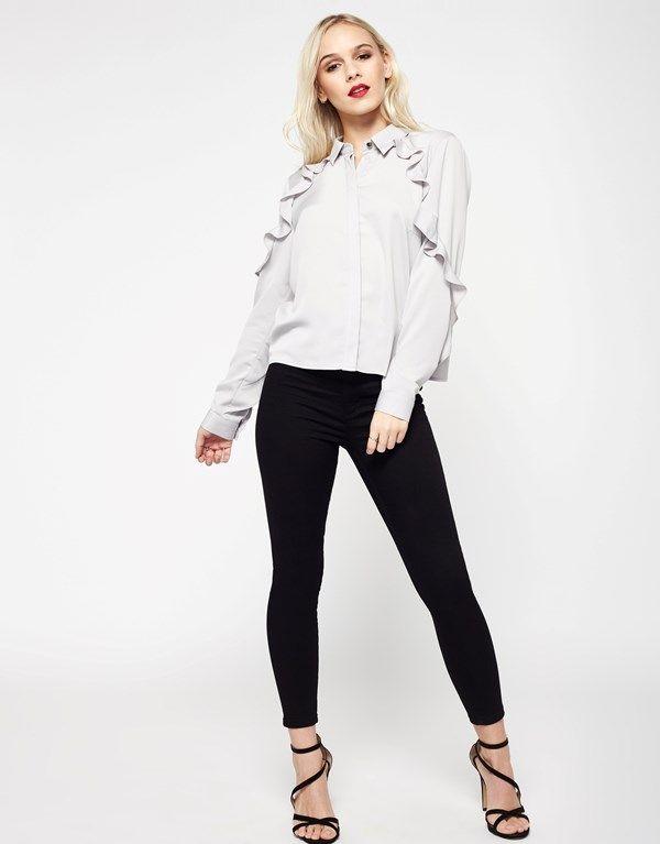 Miss Selfridge Petite Frill Shirt