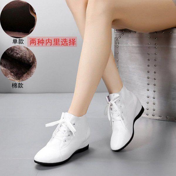 2017 весной и летом кожаные ботинки увеличился наклон с одного внутреннего пустотелые отверстие обувь сапоги кружева плоские случайные большие ботинки размера