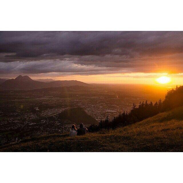 #Salzburg #Sunset #austria nature