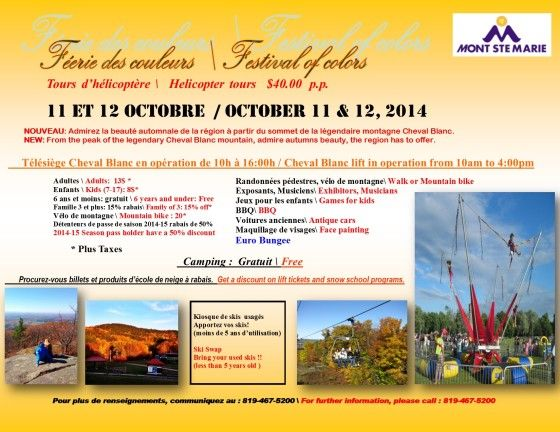 Things To Do with the Kids in Ottawa and at Home: Mont St. Marie Festival of Colors