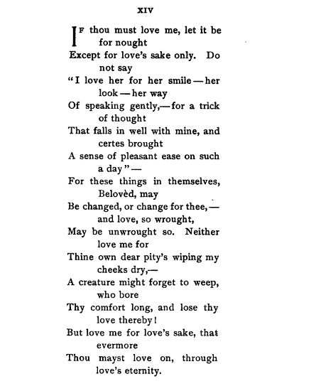 Elizabeth Barrett Browning, Sonnets from the Portuguese