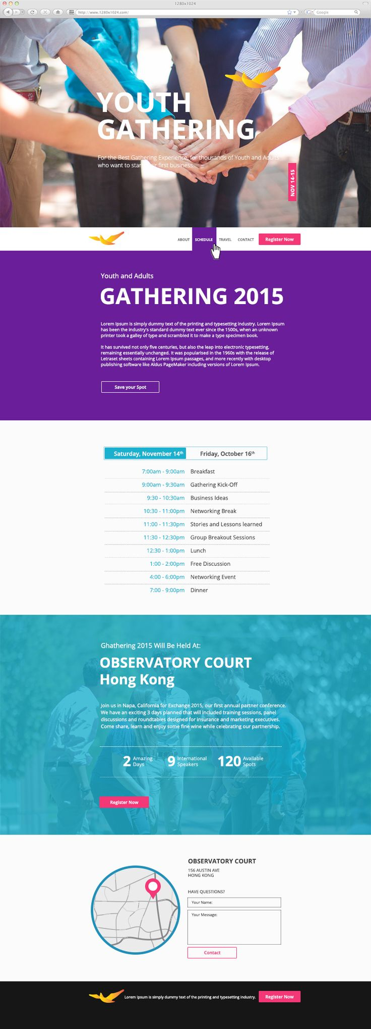 Parallax Scrolling One Pager Website — UnfoldAtelier: Boost Sales with Friendly Design