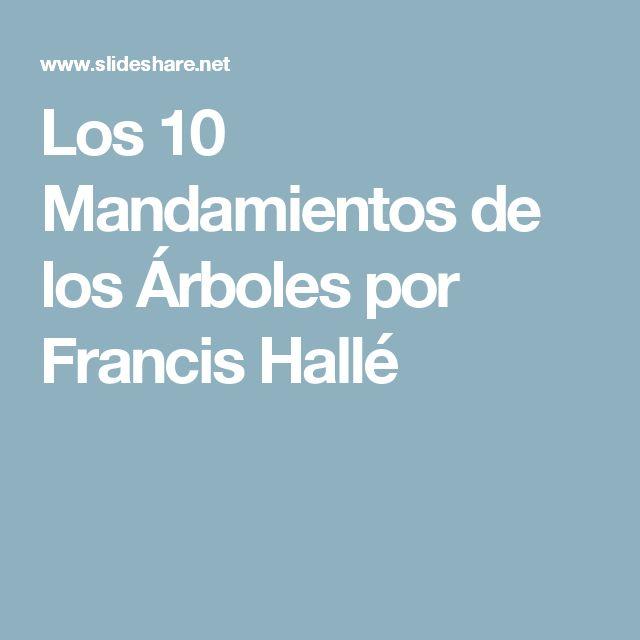 Los 10 Mandamientos de los Árboles por Francis Hallé