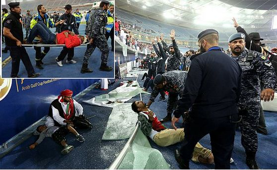 News sport entertainment: OVER 30 FOOTBALL SUPPORTERS INJURED AFTER STADIUM'...
