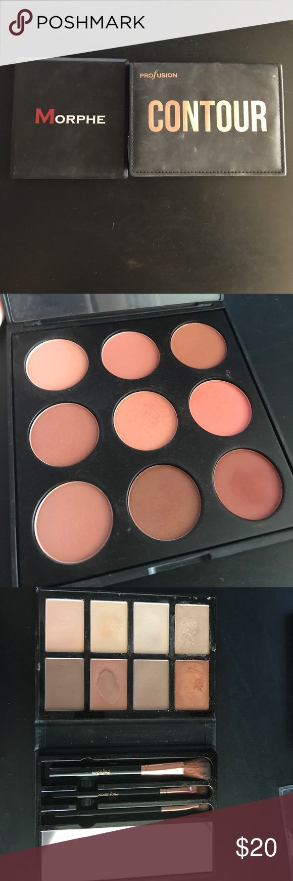 Lot of contour, highlight, and blush Morphe 9 blush palette. Profusion contour and highlight kit with 8 pans, three brushes, and mirror. Tj max dupe for the Anastasia Beverly Hills contour kit in light. Morphe Makeup Blush