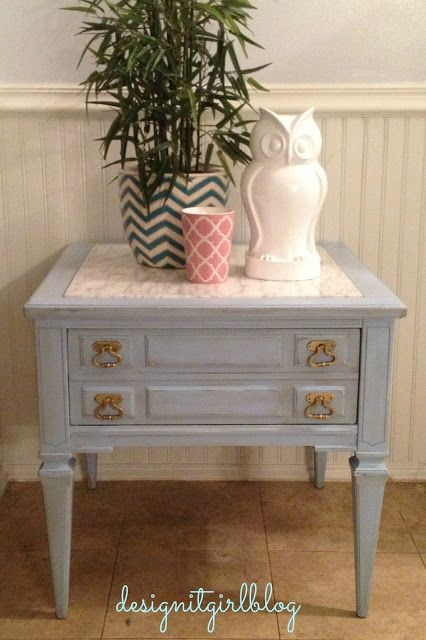 Pandora's Craft Box: Makeover end table DIY