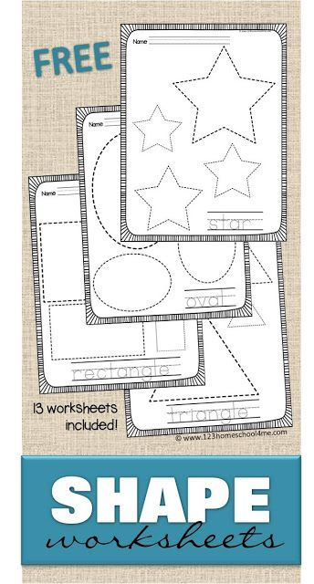 free shape worksheets help kids practice making shapes and learning their names with these 13 - Free Toddler Printables