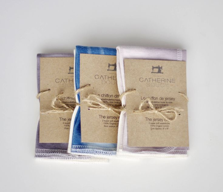 The jersey cloth - Soft organic cotton jersey washcloths - 2 pack by CatherineSoucy on Etsy