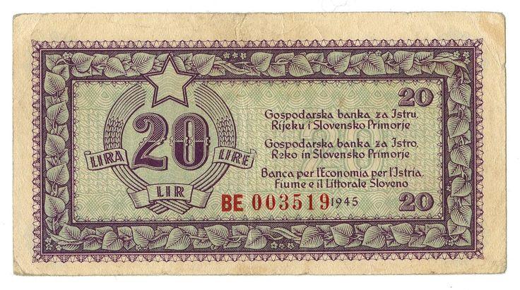 20 LIRE - #scripomarket #scripobanknotes #scripofilia #scripophily #finanza #finance #collezionismo #collectibles #arte #art #scripoart #scripoarte #borsa #stock #azioni #bonds #obbligazioni