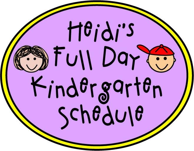 Full Day #Kindergarten Schedule
