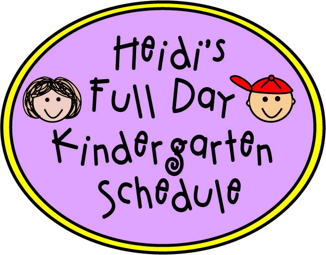 Full Day #Kindergarten Schedule