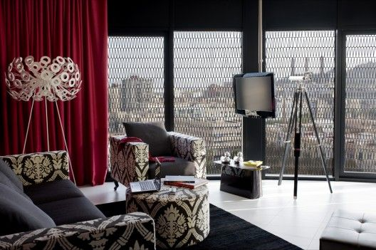 Espacios Interiores con Profusión de texturas Contraste de colores y texturas  Hotel Barceló Raval  Construido en el 2008 CMV Architects