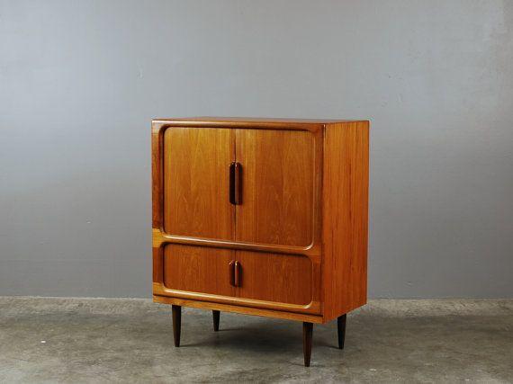 Danish Modern Teak Media Cabinet Or Bar With By MadsenModern   $895