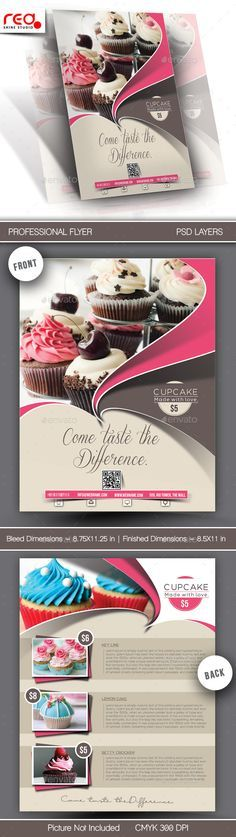 Cupcake Flyer & Poster Template #design Download: http://graphicriver.net/item/cupcake-flyer-poster-template/10642561?ref=ksioks