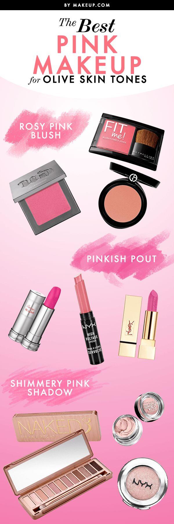 Pink Makeup for Olive Skin
