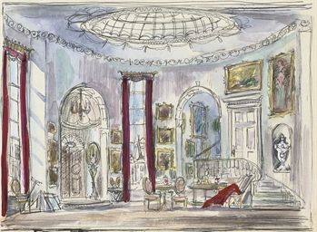 The set design for 'The Gainsborough Girls'